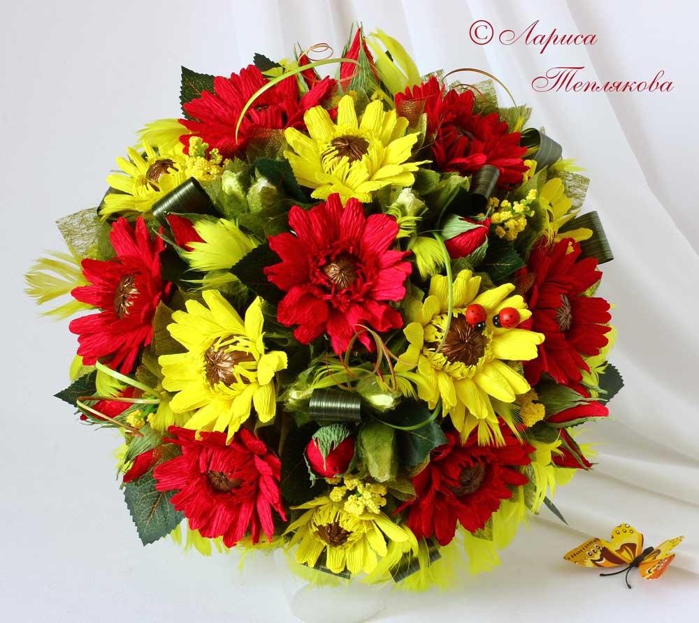 Цветы из конфет композиции 3